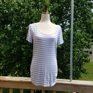 Maurices 24/7 Blue & White Striped Top